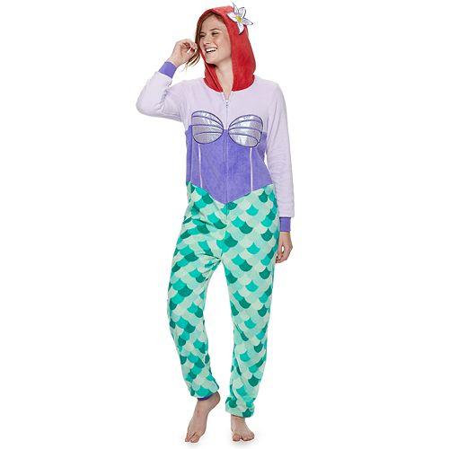 Disney's The Little Mermaid Ariel Hooded One-Piece Pajamas