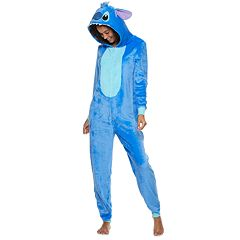 Disney's Stitch Juniors' Hooded One-Piece Pajamas
