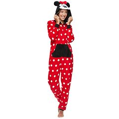 Disney's Minnie Mouse Juniors' Hooded One-Piece Pajamas
