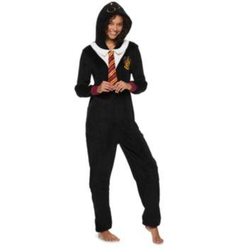 Juniors' Harry Potter Gryffindor One-Piece Pajamas