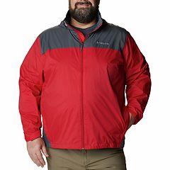 Big   Tall Columbia Glennaker Colorblock Packable Rain Jacket 49f9261db3b1d