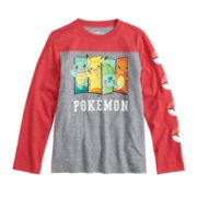 Boys 8-20 Pokemon Raglan Tee