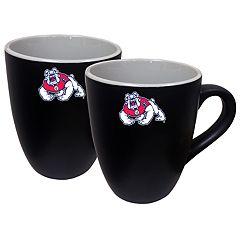 Fresno State Bulldogs Two-Tone Coffee Mug Set