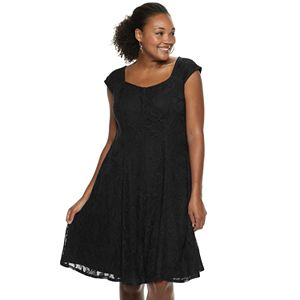 3d67b6b9f3 Regular. $100.00. Plus Size Suite 7 Lace Fit & Flare Dress
