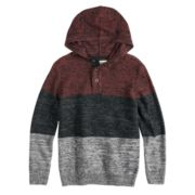 Boys 8-20 Urban Pipeline? Henley Pull-Over Hoodie Sweater