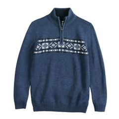 Boys 8-20 Urban Pipeline™ Fairisle Quarter-Zip Sweater