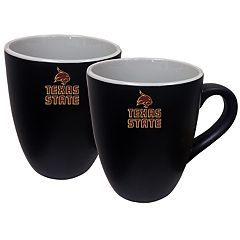 Texas State Bobcats Two-Tone Coffee Mug Set