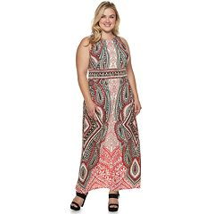 Plus Size Suite 7 Print Maxi Dress