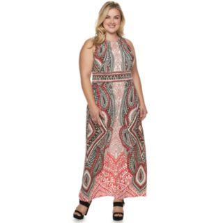 Plus Size Suite 7 Print Maxi Dress
