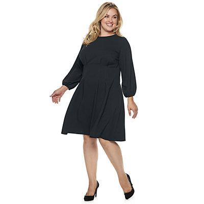 Plus Size Suite 7 Tuck-Waist Fit & Flare Dress