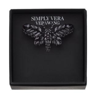 Simply Vera Vera Wang Black Moth Pin