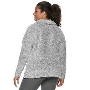 Juniors' Plus Size SO® Soft Funnel Neck Top