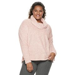 Juniors' Plus Size SO® Soft Funnel Neck Top