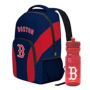Boston Red Sox Draft Day Backpack with 24-Ounce Pull-Cap Water Bottle by Northwest