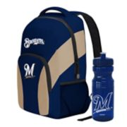 Milwaukee Brewers Draft Day Backpack with 24-Ounce Pull-Cap Water Bottle by Northwest