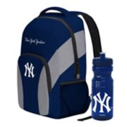 New York Yankees Draft Day Backpack with 24-Ounce Pull-Cap Water Bottle by Northwest