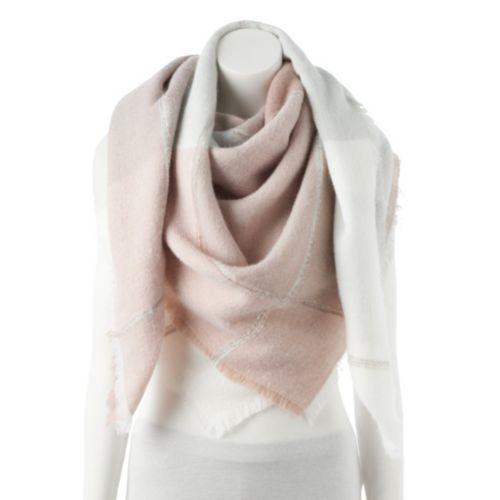 Women's LC Lauren Conrad Winter Plaid Blanket Scarf