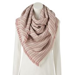 Women's LC Lauren Conrad Striped Square Blanket Scarf