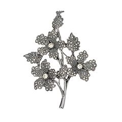 Simply Vera Vera Wang Simulated Crystal Branch Pin