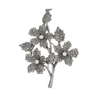Simply Vera Vera Wang Simulated Crystal Branch Pin