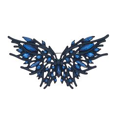 Simply Vera Vera Wang Blue Simulated Crystal Butterfly Pin