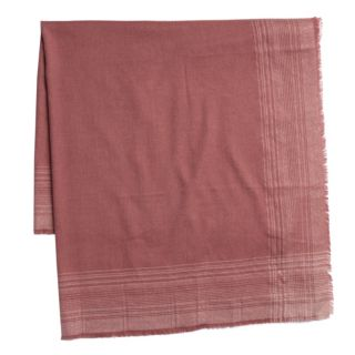 Women's LC Lauren Conrad Ombre Plaid Trim Square Blanket Scarf