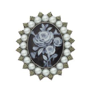 Simply Vera Vera Wang Simulated Pearl Cameo Flower Pin