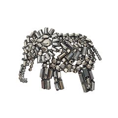 Simply Vera Vera Wang Simulated Crystal Elephant Pin