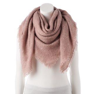 Women's LC Lauren Conrad Shine Boucle Square Blanket Scarf