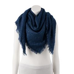 Women's LC Lauren Conrad Shine Boucle Square Blanket Scarf