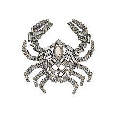 Simply Vera Vera Wang Simulated Crystal Crab Pin
