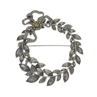 Simply Vera Vera Wang Simulated Crystal Wreath Pin