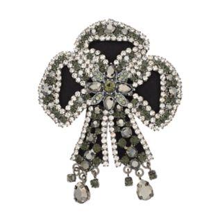 Simply Vera Vera Wang Simulated Crystal Bow Pin