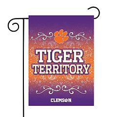 Clemson Tigers Garden Flag with Pole