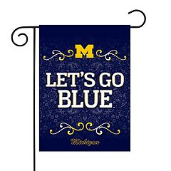 Michigan Wolverines Garden Flag with Pole
