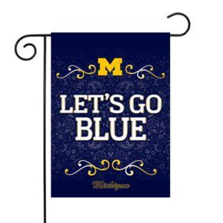Michigan Wolverines Garden Flag with Pole