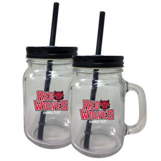 Arkansas State Red Wolves Mason Jar Set