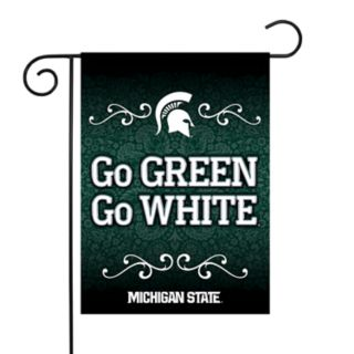 Michigan State Spartans Garden Flag with Pole