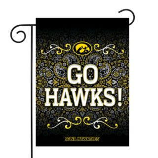 Iowa Hawkeyes Garden Flag with Pole