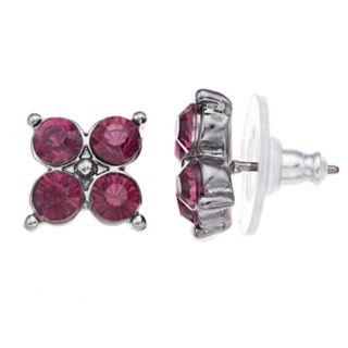 Simply Vera Vera Wang Red Stone Stud Earrings