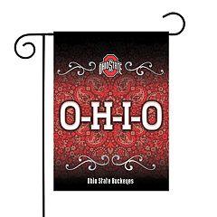 Ohio State Buckeyes Garden Flag with Pole