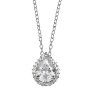 PRIMROSE Sterling Silver Teardrop Pendant Necklace