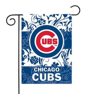 Chicago Cubs Garden Flag with Pole