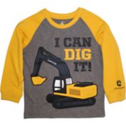 "Toddler Boy John Deere ""I Can Dig It"" Raglan Graphic Tee"