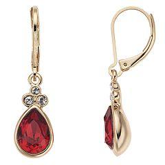 Dana Buchman Swarovski Crystal Teardrop Earrings