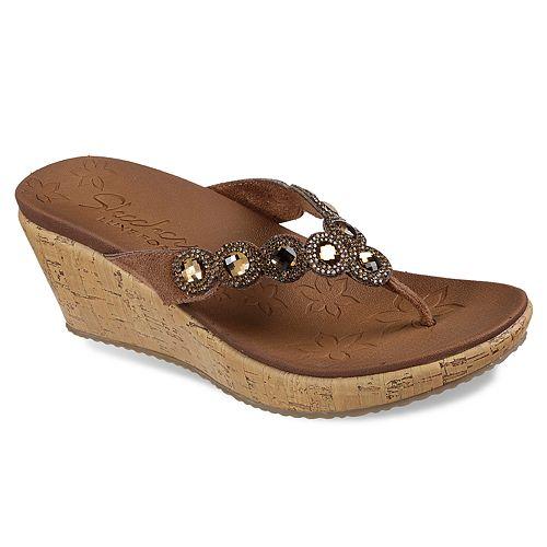 99d130355a8f Skechers Cali Beverlee Bizzy Babe Women s Wedge Sandals