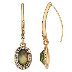 Dana Buchman Simulated  Abalone Threader Drop Earrings