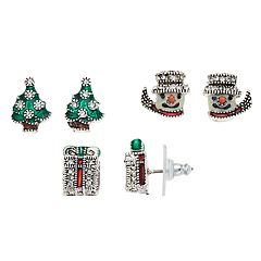 Napier Holiday Stud Earring Set