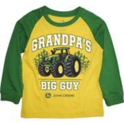 "Toddler Boy John Deere ""Grandpa's Big Guy"" Raglan Graphic Tee"