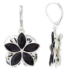 Dana Buchman Simulated Crystal Flower Motif Drop Earrings